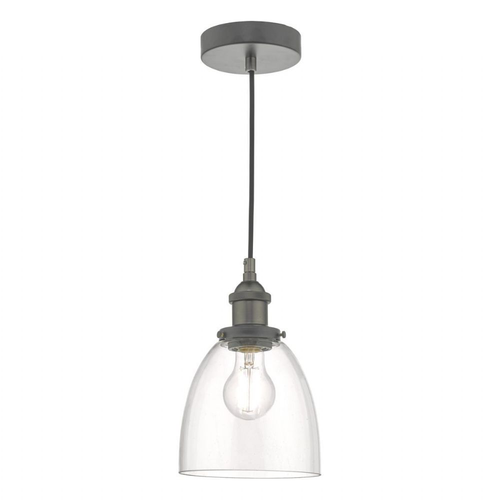 Arvin Pendant Antique Chrome & Glass (double insulated) BXARV0161-17